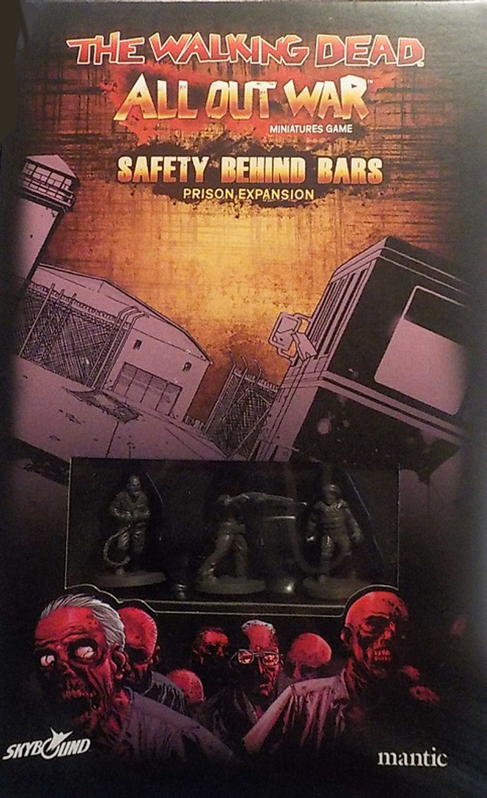 THE WALKING DEAD ALL OUT WAR IN STOCK SAFETY BEHIND BARS EXPANSION MANTIC